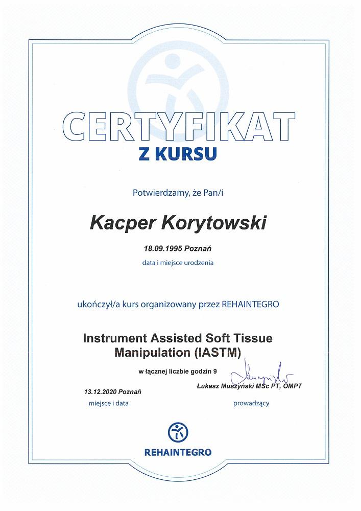 Certyfikat IASTM